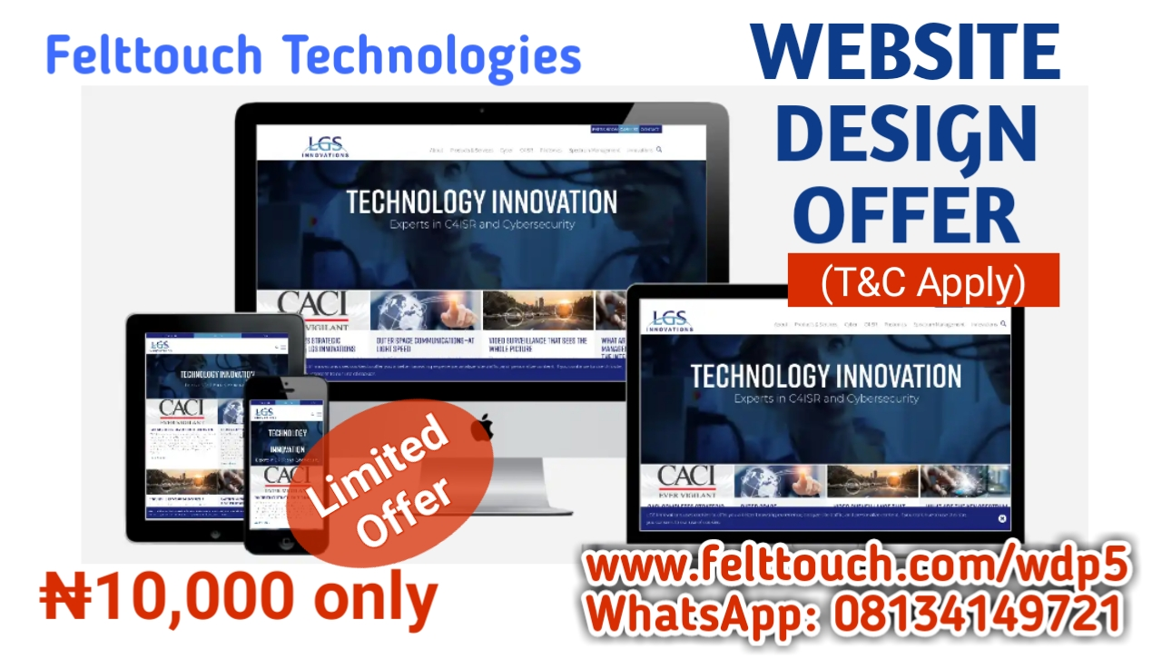 Website Design Offer @ N10,000 only